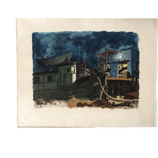 Key West Illustration Painting, 1961 For Sale