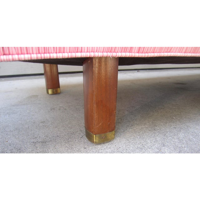 1960s 1960s Mid-Century Low Bedroom Upholstered Bench For Sale - Image 5 of 7