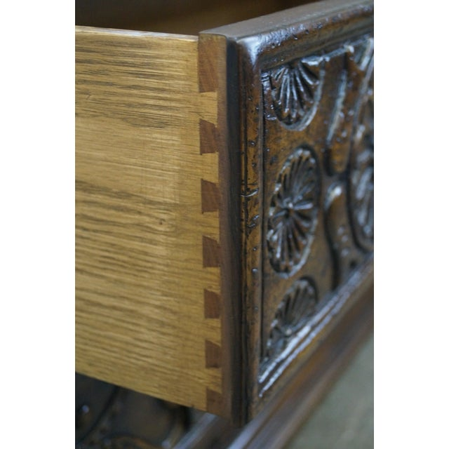 Brown Widdicomb Sunflower Carved Chests - A Pair For Sale - Image 8 of 10