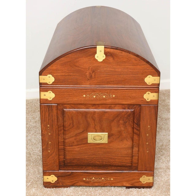 Mid-Century Anglo-Indian Domed Trunk For Sale - Image 9 of 12