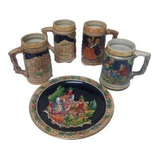 Vintage German Stein Set - 5 Pc.