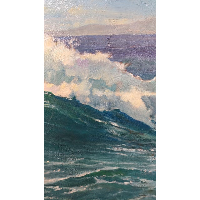 "Paul Youngman ""Pacific Grove California Seascape"" Original Oil Painting For Sale In Los Angeles - Image 6 of 10"
