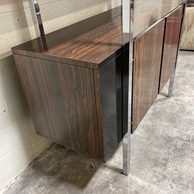 Mid Century Two Tier Chrome Shelf Cabinet For Sale - Image 11 of 12
