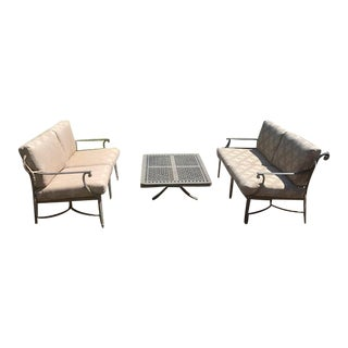 Patio Furniture by Cast Classic-Set of 3 For Sale