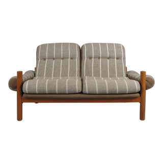 1970s Danish Teak Domino Mobler Settee For Sale