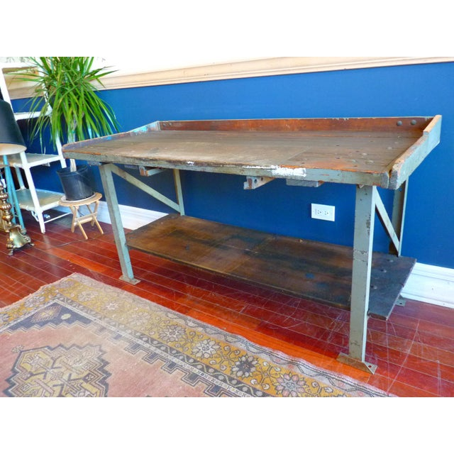 Industrial, Old Welders Workbench For Sale - Image 13 of 13