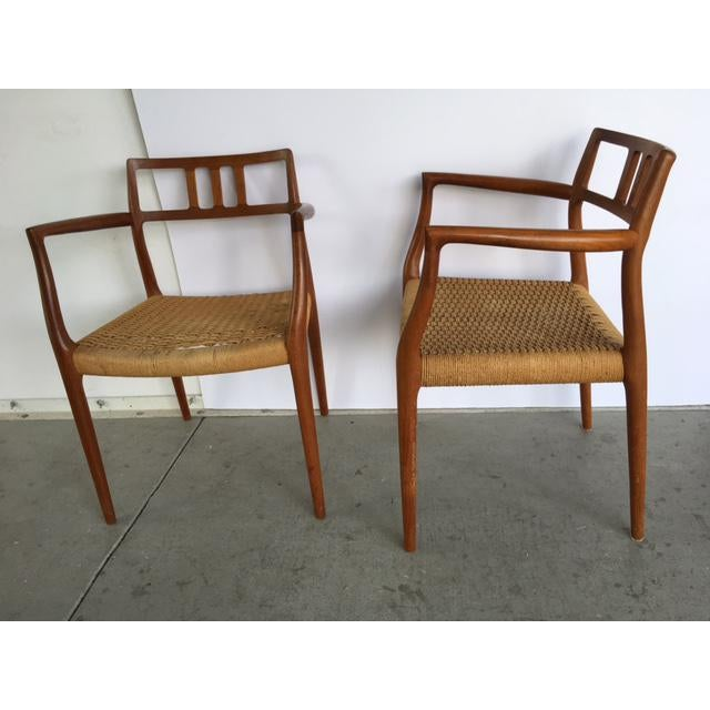 Niels Moller Model 64 Danish Modern Chairs - A Pair For Sale - Image 5 of 10