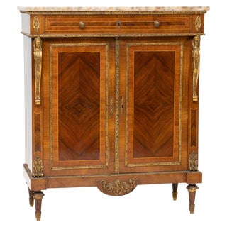 20th Century French Marble-Top Cabinet For Sale
