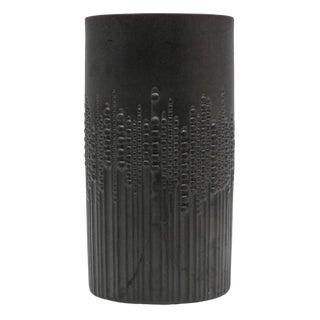 1960s Vintage Tapio Wirkkala for Rosenthal Porcelain Noir Vase For Sale