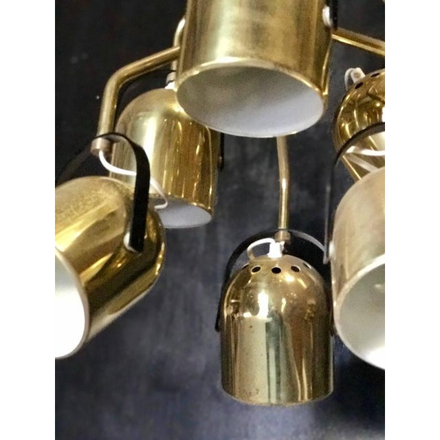 Brass Italian 1970s Brass Pendant Light For Sale - Image 7 of 8