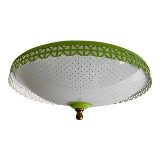 1950s Polka Dot Flush Light For Sale