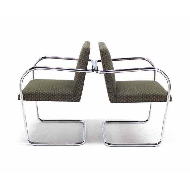 Knoll Pair of Mies Brno Side office dining Chairs for Knoll For Sale - Image 4 of 10