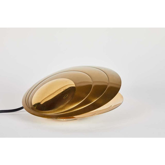 Brass 1960s Brass Clamshell Table Lamp by Angelo Brotto For Sale - Image 8 of 13