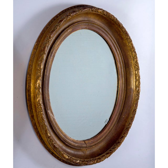 Near Pair 19th Century Carved Gilt Wood and Gesso Mirrors For Sale In Detroit - Image 6 of 8