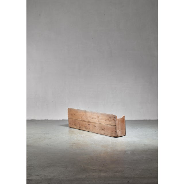 19th Century Pine Storage Bench, Sweden For Sale - Image 4 of 5
