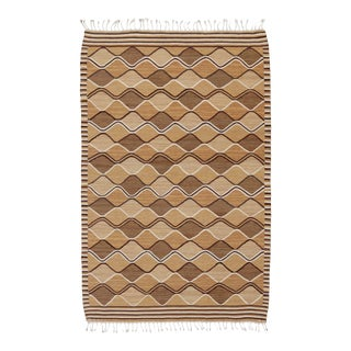 """Mid 20th Century Swedish Flat Weave Rug - 5'10"""" X 9'0"""" For Sale"""