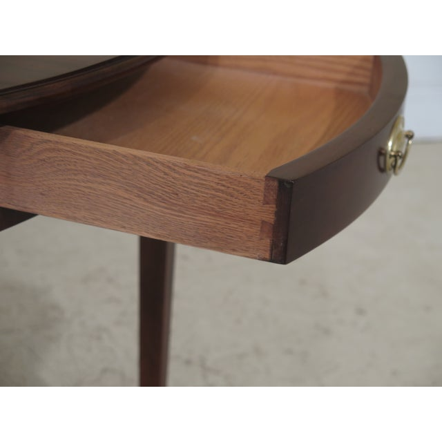 Wood 1990s Vintage Henkel Harris Mahogany Pembroke End Tables- A Pair For Sale - Image 7 of 12