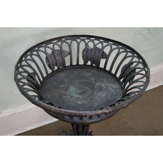 Large Bronze Pedestal Planter W/ Swans (Possibly Maitland Smith) - Image 10 of 10