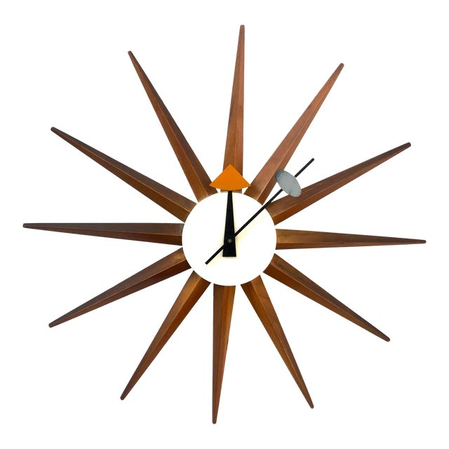 1950s George Nelson Starburst Clock For Sale