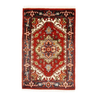 Pasargad N Y Fine Serapi Design Hand-Knotted Rug - 2' X 3'