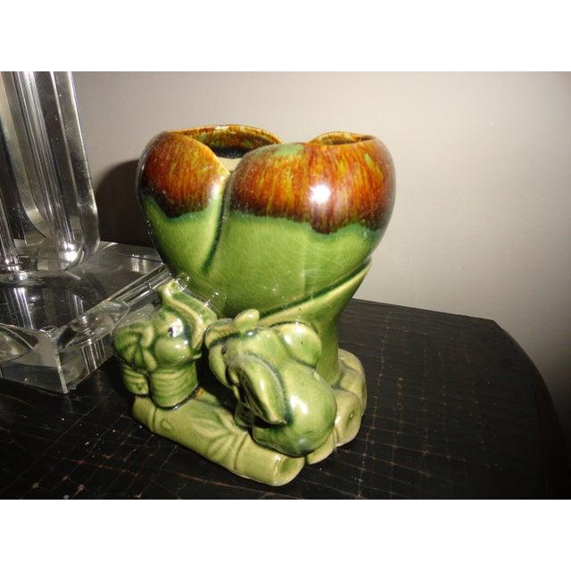 Ceramic Vase with Elephants & Bamboo - Image 4 of 4