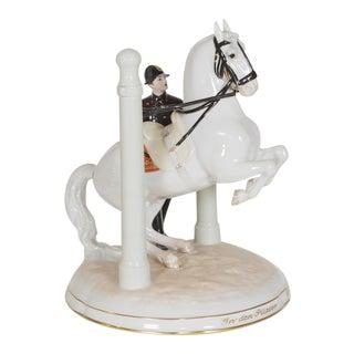 "1930s Vintage Augarten Royal Vienna ""Piloren"" Lipizzaner Horse Riding School"" Porcelain Figurine For Sale"