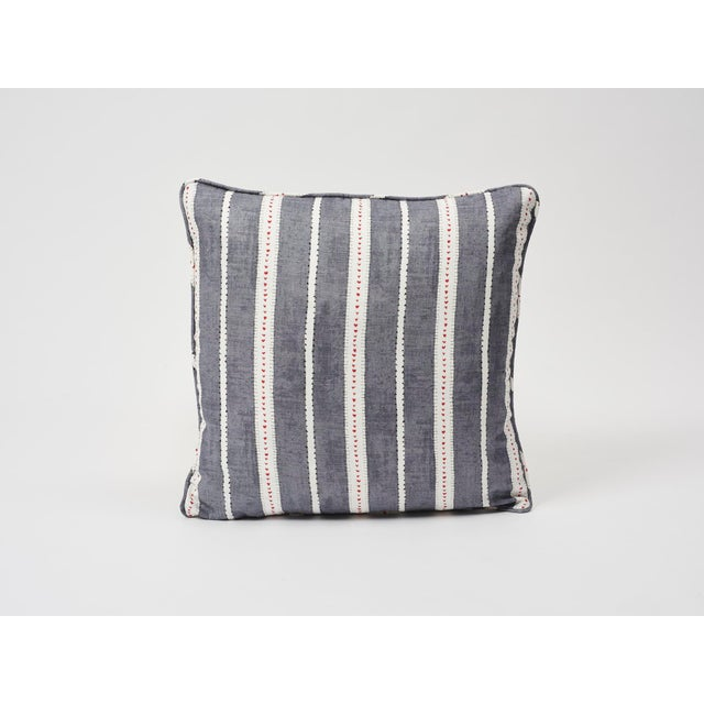 Schumacher Double-Sided Pillow in Amour Linen Print For Sale In New York - Image 6 of 7