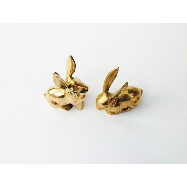 Vintage Brass Rabbit Figurines - A Pair - Image 3 of 6