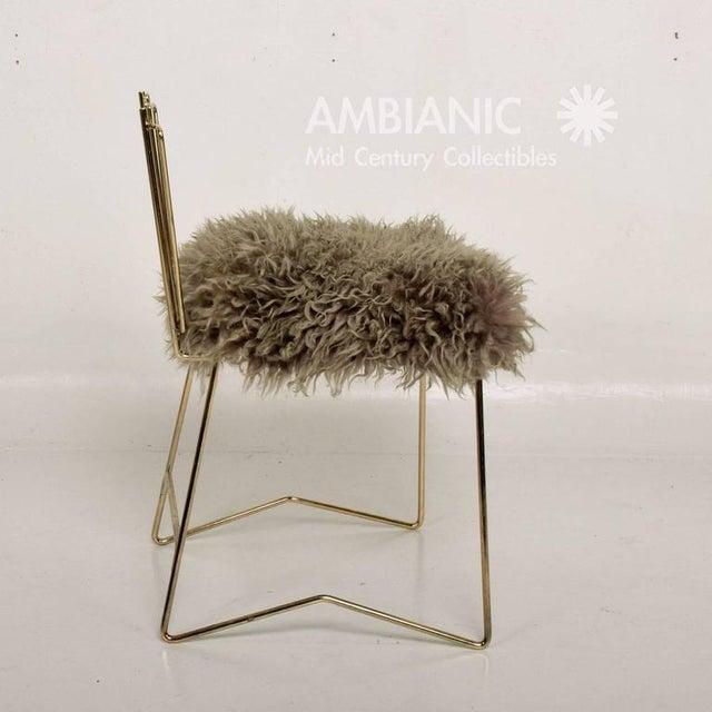 2010s Pr03 Folding Brass & Lambskin Chair For Sale - Image 5 of 9