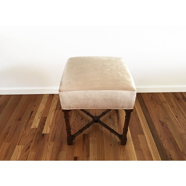 Hickory Chair Co. Upholstered Bench - Image 4 of 6