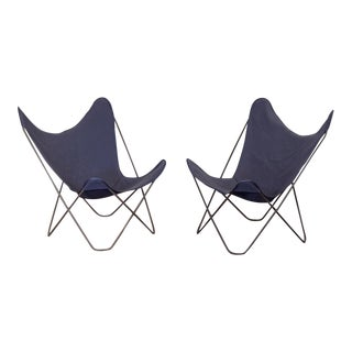 Vintage Bkf Hardoy Butterfly Chairs for Knoll - A Pair For Sale