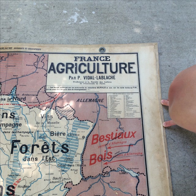 1950s French Two-Sided School Map of France For Sale - Image 5 of 11