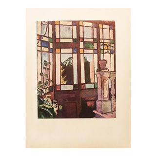 """1954 Raoul Dufy, """"Window With Colored Panes"""" First Edition Lithograph For Sale"""