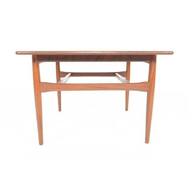 Mid-Century Danish Modern Square Teak Coffee Table - Image 6 of 8