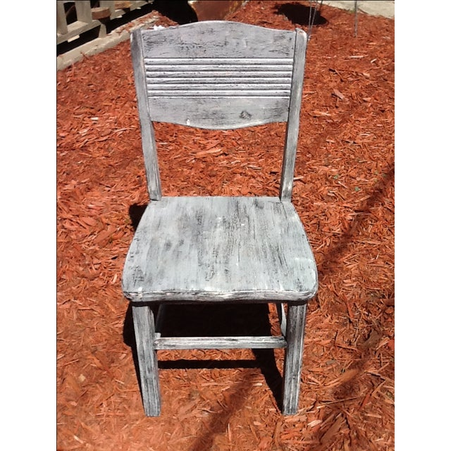 Antique Shabby Chic Chair - Image 3 of 6
