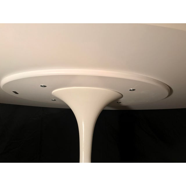 Aluminum Eero Saarinen Oval Dining Table & Swivel Chairs - 5 Pieces. Mid-Century, Knoll For Sale - Image 7 of 12