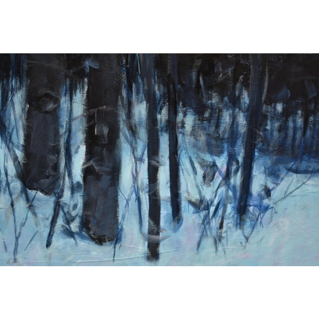 """2020s """"Snowy Intersection at Dawn"""" Contemporary Acrylic Painting by Stephen Remick, Framed For Sale - Image 5 of 12"""