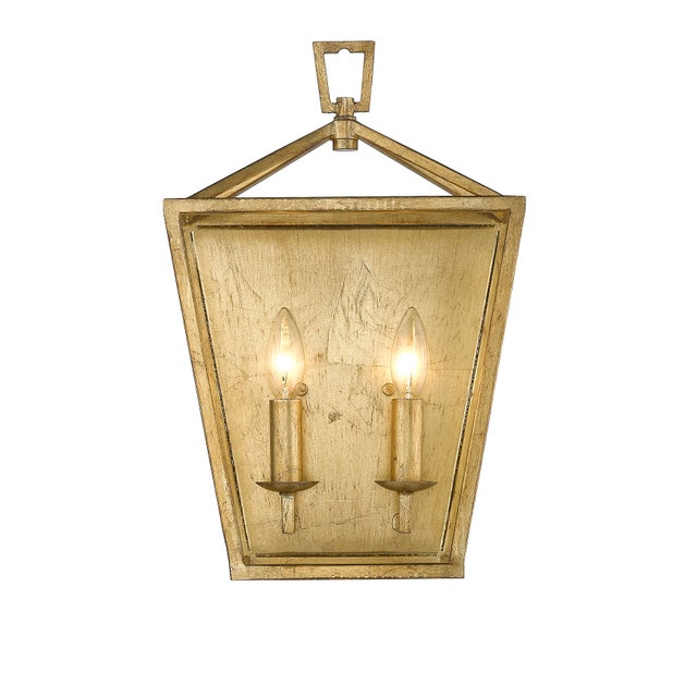 The Ponce City 2 Light sconce refined design and elegant finish add classic style to any room Takes 60W bulb. No Glass