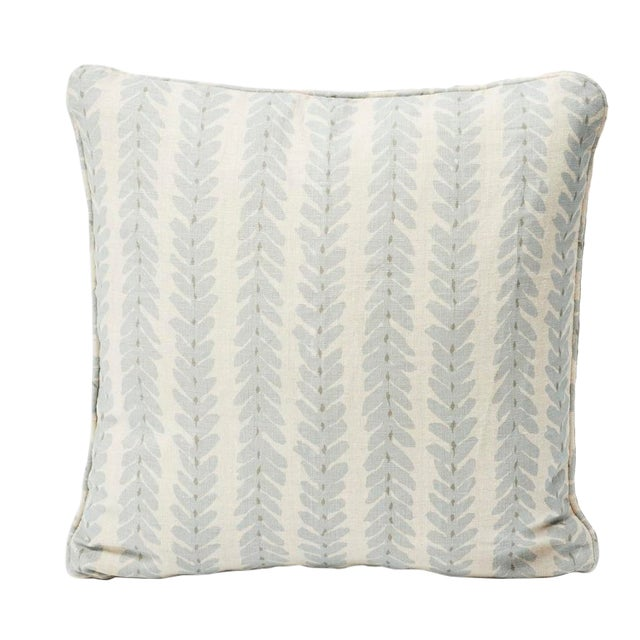 Schumacher Double-Sided Pillow in Woodperry Linen Print For Sale In New York - Image 6 of 7