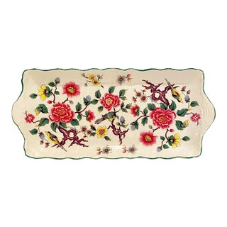 """1940s Chinoiserie-Style, Old Foley James Kent Ltd """"Chinese Rose"""" Platter Made in England For Sale"""