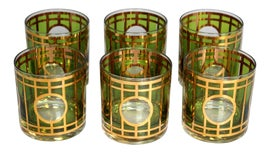 Image of Art Deco Lowball Glasses