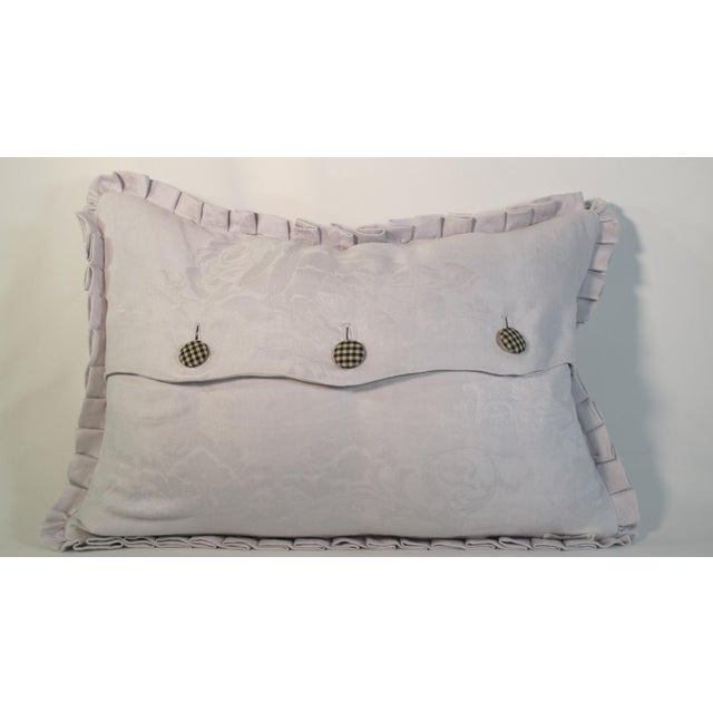 Boho Chic 1920s Boho Chic Printed Linen Pillow For Sale - Image 3 of 4