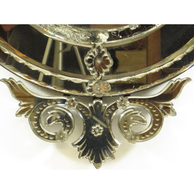 Venetian Cut Glass Wall Mirror For Sale - Image 4 of 8