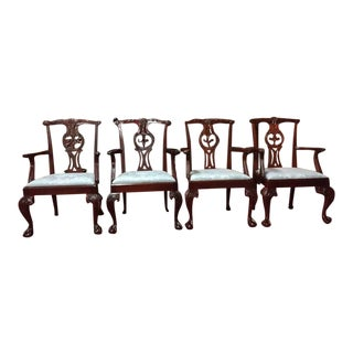 Baker Furniture Mahogany Chippendale Chairs- Set of 4 For Sale