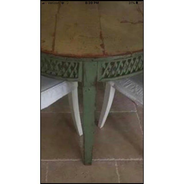 1910s Vintage Farmhouse Dining Table For Sale - Image 5 of 10