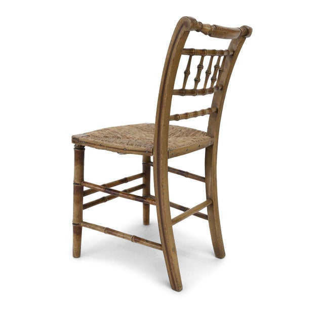 Early 19th Century Pair of Faux Bamboo Side Chairs For Sale - Image 5 of 11