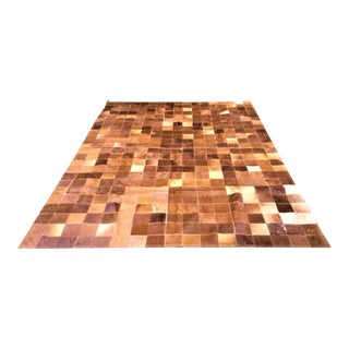 Late 20th Century Cow Hide Patchwork Rug For Sale