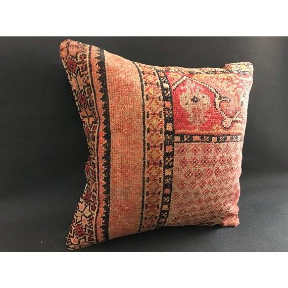 1960s 1960s Americana Handwoven Oushak Orange Pillow Case For Sale - Image 5 of 9