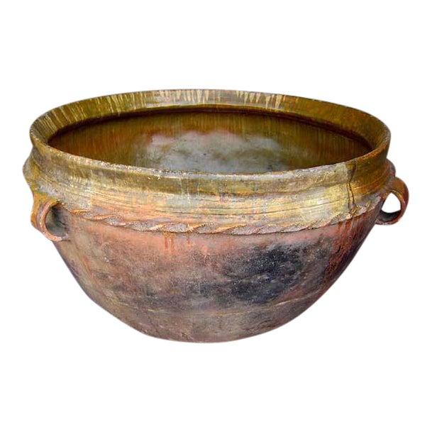 19th Century Antique Guatemalan Large Ceramic Pot/Planter For Sale
