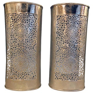 Moroccan Wall Lanterns or Sconces- a Pair For Sale